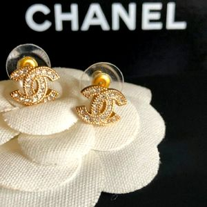 Authentic Chanel Stud Gold Earrings